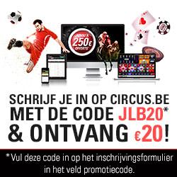 20€ gratuits sur Circus.be